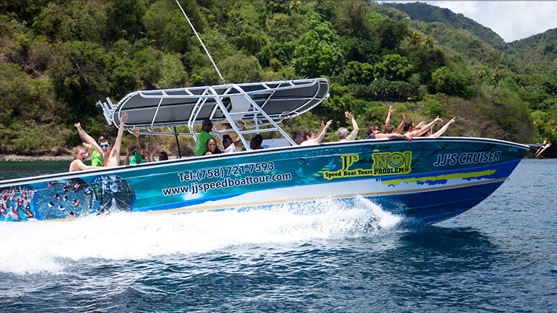speedboat and sightseeing tour to soufriere