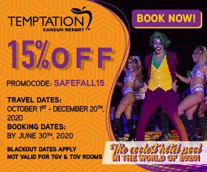 temptation cancun mexico party resort deals