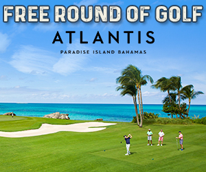 atlantis free round of golf vacation bahamas golfing