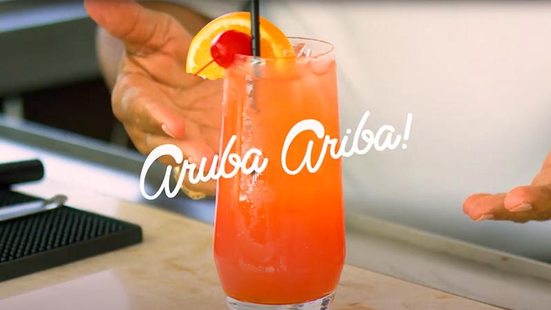 top tropical drinks aruba ariba caribbena cocktail