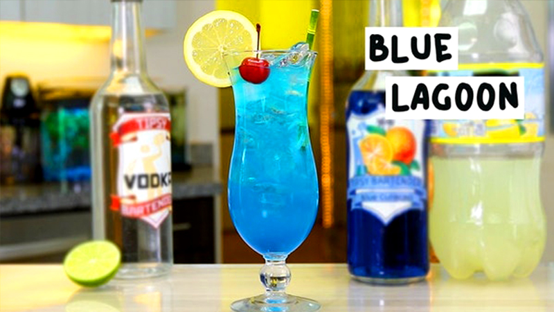 top tropical drinks blue lagoon travel concoction
