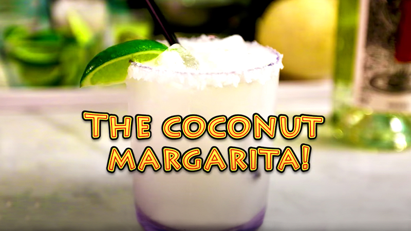 tropical drinks coconut margarita vacation drink