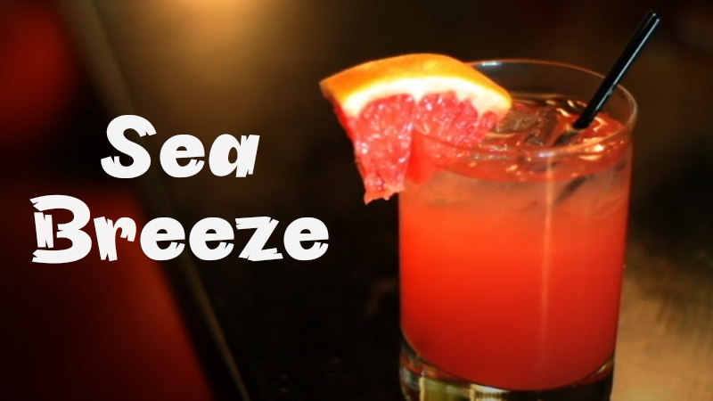 top tropical drinks sea breeze