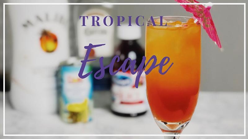 tropical drinks tropical escape cool concoction