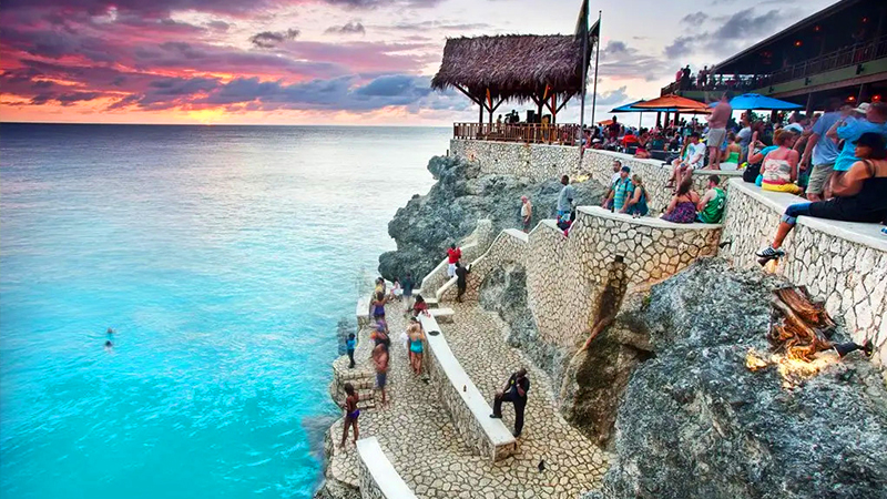 top best weed-friendly travel destinations negril jamaica rick's cafe 420 getaway