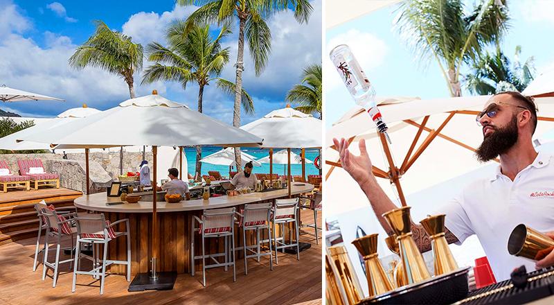 beach bars at caribbean resorts eden rock st barthélemy tropics vacation