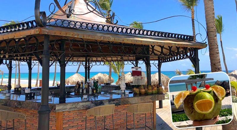 beach bars at caribbean resorts excellence punta cana dominican republic all inclusive getaway