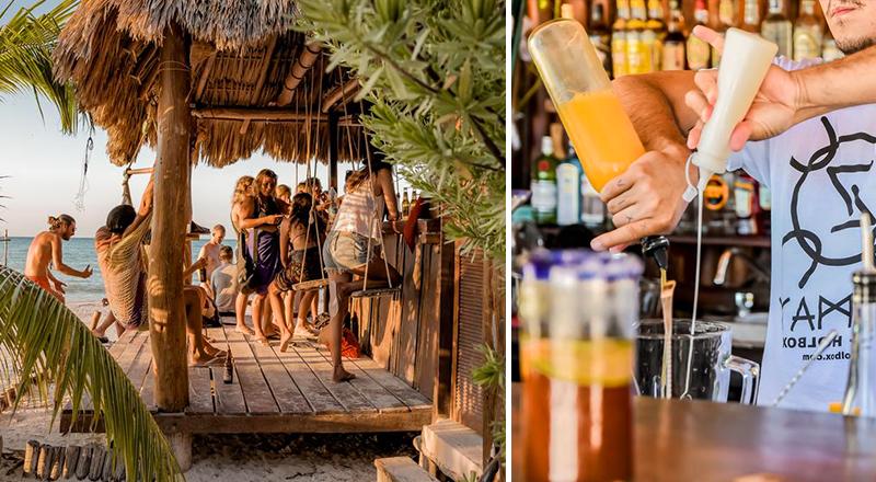 beach bars at caribbean resorts hotel zomay holbox mexico tropical getaway