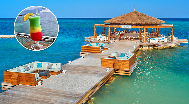 top beach bars at caribbean resorts sandals montego bay all inclusive vacation jamaica