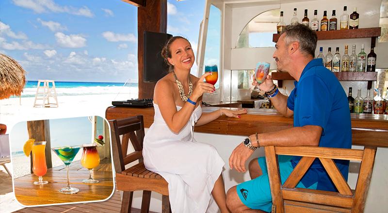 top beach bars at caribbean resorts seadust cancun all inclusive travel mexico