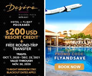 desire riviera maya hotel flight packages mexico deals