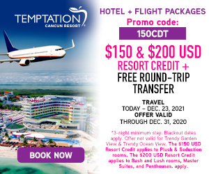 temptation hotel flight packages mexico travel deals