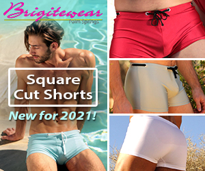 brigitewear square cut shorts sexy men's beachwear