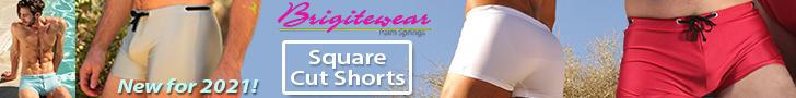 brigitewear square cut shorts sexy men's swimwear