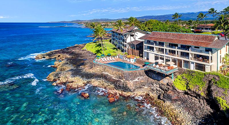 poipu shores kauai hawaii oceanfront vacation