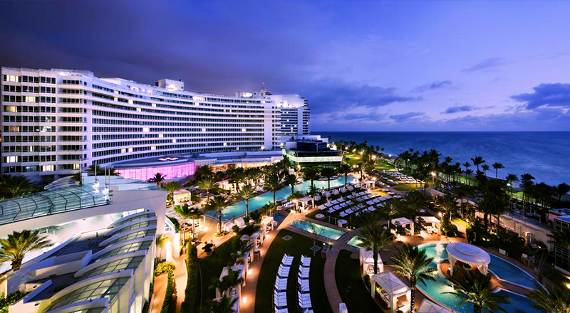 top florida spring break hotels fontainebleau miami beach luxury hotel