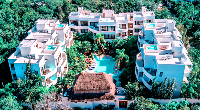 best clothing-optional hotels in mexico intima resort tulum adults-only travel