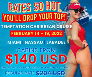 temptation caribbean cruise rates so hot best adult vacation deals