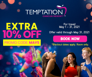 temptation extra 10% off mexico adult only travel deals