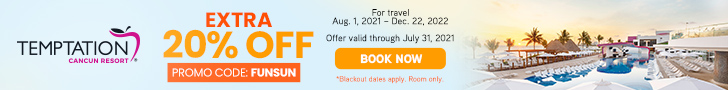 temptation extra 20% off best cancun party hotel deals