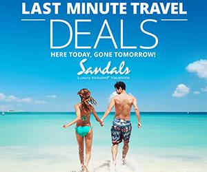 sandals last minute travel deals