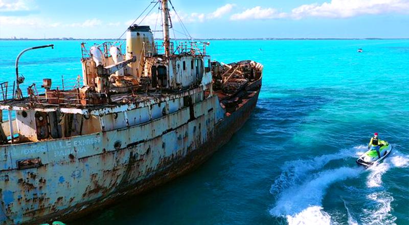 shipwreck adventure jet ski tour