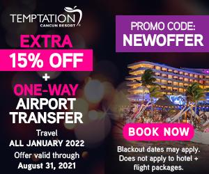temptation extra 15% off best cancun adult travel deals