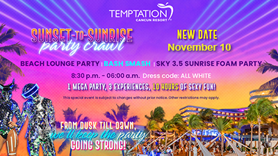 swingers parties temptation-sunset-to-sunrise party crawl cancun vacation
